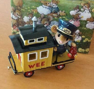 """Wee Forest Folk M-453e """"Caboose""""   Mint"""