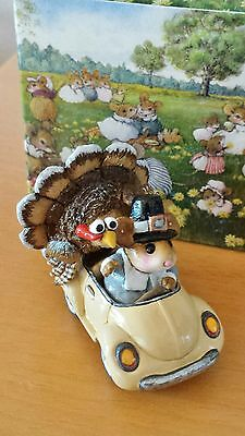 """Wee Forest Folk M-454d """"Honk for Thanksgiving!""""   Mint"""
