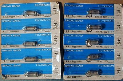 Erie RFI suppression broad band FILTERCON,  lot of four, new