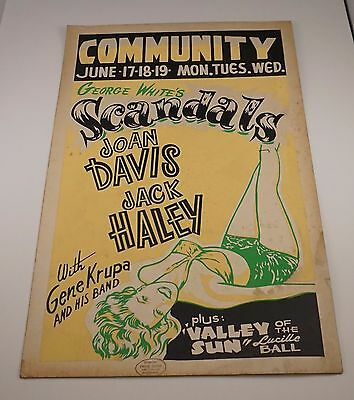 Original 1945 Lobby Card Scandals Starring Joan Davis and Jack Haley