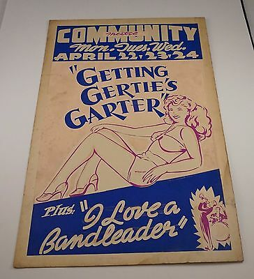 Original 1940s Lobby Card Getting Gertie's Garter