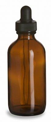 4 oz (120 ml) Boston Round AMBER Glass Bottles (Lot of 48) (You Choose Cap)