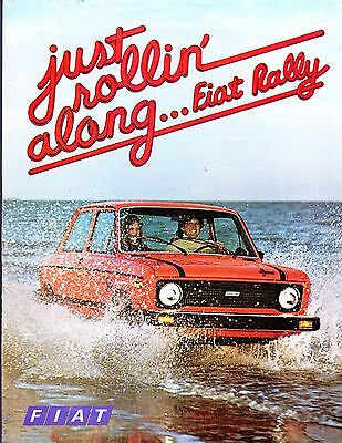 1978 FIAT Rally Factory Original Sales Brochure 2 Pages