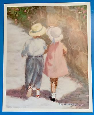 *Vintage* SECRETS Little Boy & Girl IVAN ANDERSON Large 16 x 20 1980's Print
