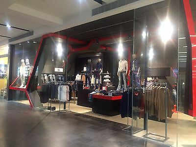 Shop Front Glass Including Automatic Roller Door