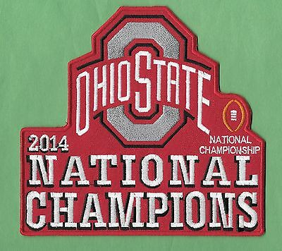 """New Ohio State Buckeyes 2014 Champions 6 1/2 X 6 """" Iron on Patch Free Shipping"""