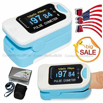 OLED Fingertip Pulse Oximeter SpO2 Blood Oxygen PR Heart Rate Oximeter,US Promot