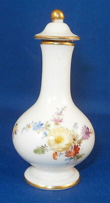 Antique Meissen Porcelain Cute Floral Perfume Bottle Porzellan Flakon Perfuem
