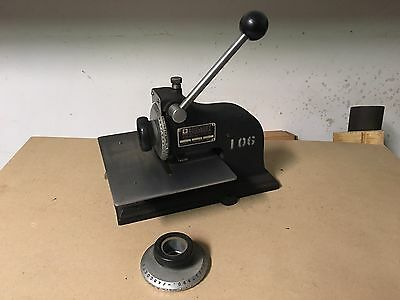 "Geo T. Schmidt Model 4 Name Plate Marking Machine 1/8"" & 3/16"" Letter Size"
