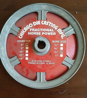"""Chicago Die Cast Pulley 8"""" x 3/4"""" 800-A"""