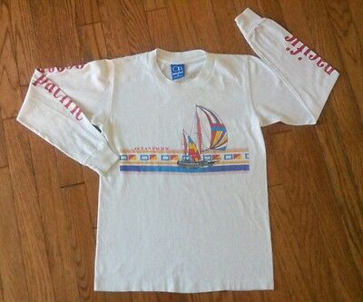 Very Vintage Original OP Ocean Pacific Long Sleeved T Shirt Youth L Sailboats