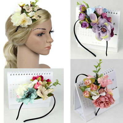 Women Bride Wedding Flower Headpiece Headband Boho Flower Crown Beach Garland