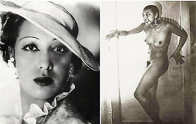 """""""vintage Hairy Josephine Baker Dressed And Fully Nude"""" 8 X 10 Glossy Photo"""