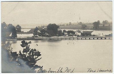 PZes CENTREVILLE MD Clash Building at Wharf 1907 Maryland Real Photo Postcard