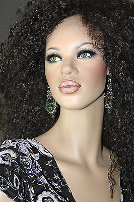 Dash N Dazzle Glass Eyes TALL FULL SIZE mannequin  Mocha Beauty Looks Real