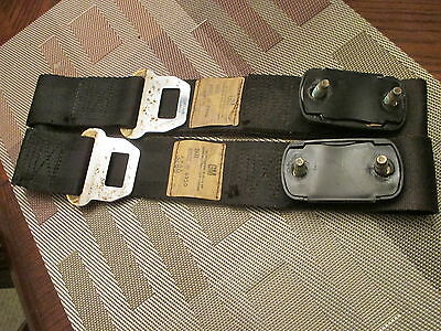1969 Gm Shoulder Seat Belts Set - Black - Pontiac Gto