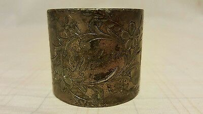 Antique Silverplate Napkin Ring - monogramed