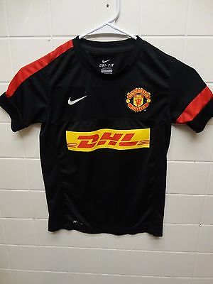 online retailer 8265e 3eaa5 NIKE MANCHESTER UNITED DHL Authentic Youth Soccer Jersey - Size S