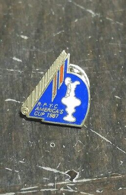 1987 R.P.Y.C America's Cup Yachting Boating Race Pin Rare