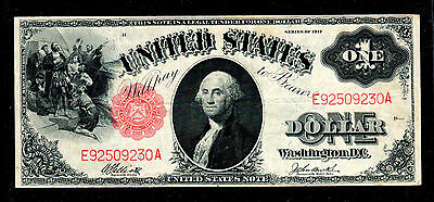 1917 $1 Red Seal Legal Tender Note