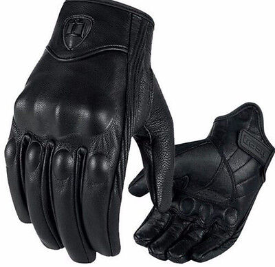 Windproof Motorcycle Bicycle Horse Racing Riding Cycling Leather Gloves Mesh