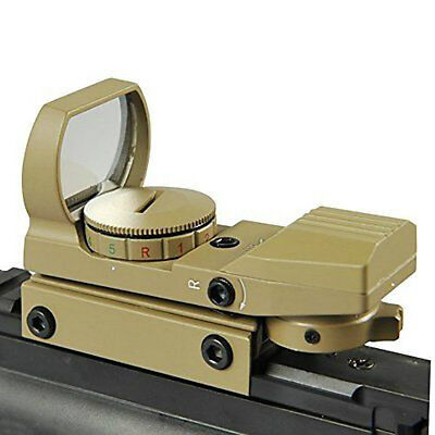 Hunting Holographic 4 Reticle Red Green Dot Scope Sight For Airsoft Rifle 20mm