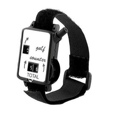 Golf Stroke Counters Score Keeper Count Watch Putt Shot With Black Wristband UK