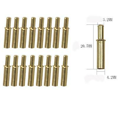 12pcs Archery Arrow Inserts 4.2mm Base Protection Arrows Shaft Tail Copper Gold