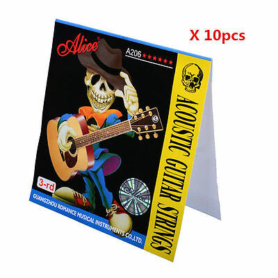10pcs Alice A206SL 3rd Acoustic Guitar Strings Phosphor Bronze Third String