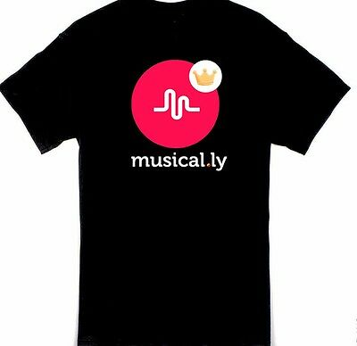 Musically crown 100% cotton black T shirt youth size XS S M L XL T-618
