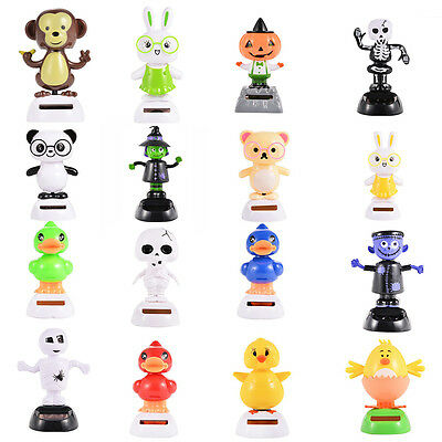New Solar Powered Dancing Animal Swinging Animated Bobble Dancer Toy Car Decor
