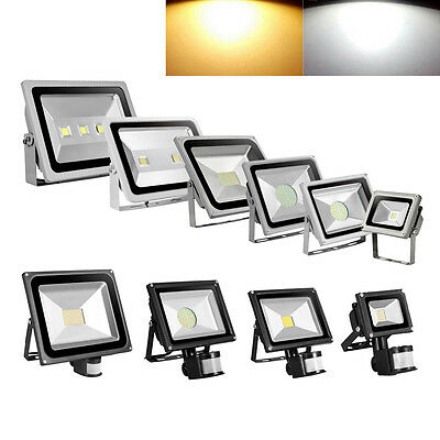 10W-300W Warm Cool WhIte LED PIR Motion Sensor Flood Light Outdoor Security Lamp