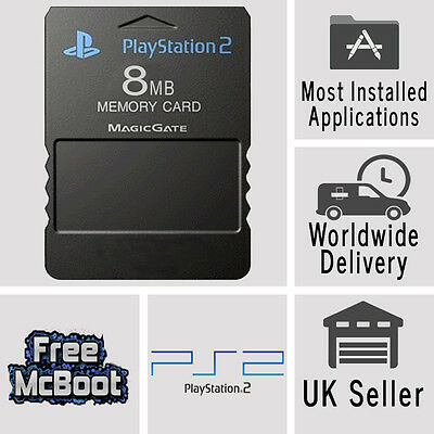 Free McBoot FMCB 1.966 Sony Playstation2 PS2 64MB Memory Card Cards OPL MC Boot