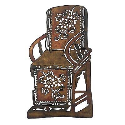 Antique Shadow puppet theatre chair in leather. China. (1305)
