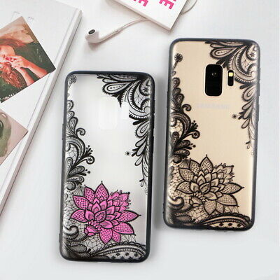 Retro Hollow Pattern Slim Matte Hard Phone Case For Samsung Galaxy S10 Plus S9