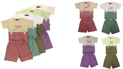 Toddler Baby Kids Boy Girls 2 PC Summer Outfits T-shirt Shorts PJs Clothes Size