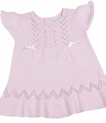 BabyPrem Baby Clothes Girls Pink Knitted Cotton Dress Baby Dresses NB - 6m