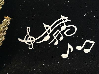 Die Cuts - Music Script & Music Notes x 15 - Cardmaking & Scrapbooking