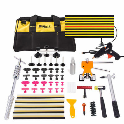 PDR Kit Paintless Dent Repair Puller Tab Hammer Hail Removal Rods Glue Gun Tools