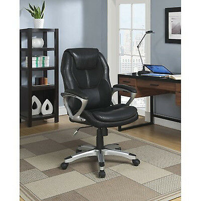 High Back Executive PU Leather Office Chair Task Ergonomic Swivel Computer Desk