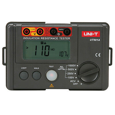 1000V Digital Insulation Resistance Tester Ground Tester Megger MegOhm Meter