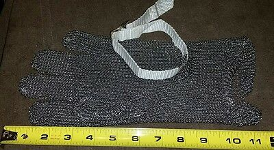 Stainless Steel Chain Mail Meat Cutting Glove Size Medium