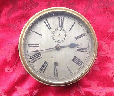 Quality Antique Part Ships Brass Cased Fusee Clock Case  Dial For Restoration