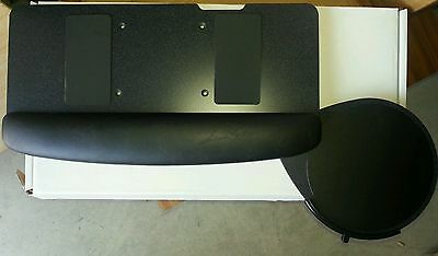 Keyboard tray with teardrop swivel under mouse tray new in factory box