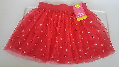 baby girl tutu skirt, size 3t, red and gold