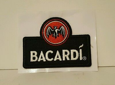 Unique Embroidered Bacardi Rum Patch With  Bat Logo Patch