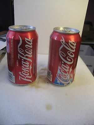 2008 Bejing China Olympics Russia & Usa Coca Cola/coke Collector Cans