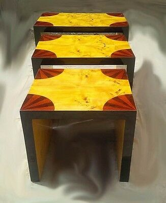 fantastic Marquetry Art Deco Style nest of tables