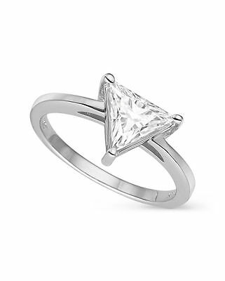 Charles & Colvard Triangle 7.5mm Moissanite Engagement Ring-size 7, 1.40ct DEW