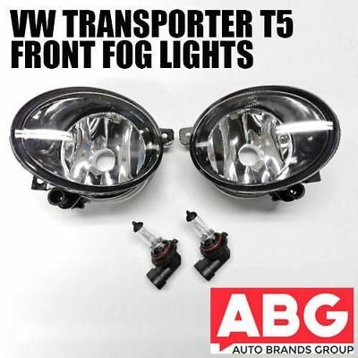 For VW Transporter T5 2010 On 2x Fog Light Lamps with Bulb Front Right Left Set